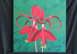 Aztec Lilies $400.00 (20 x 20)