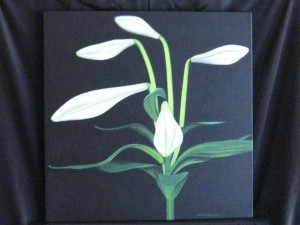 painting of lily flower