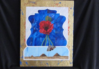 Egyptian Poppy $400.00 <br/> (18 x 20)